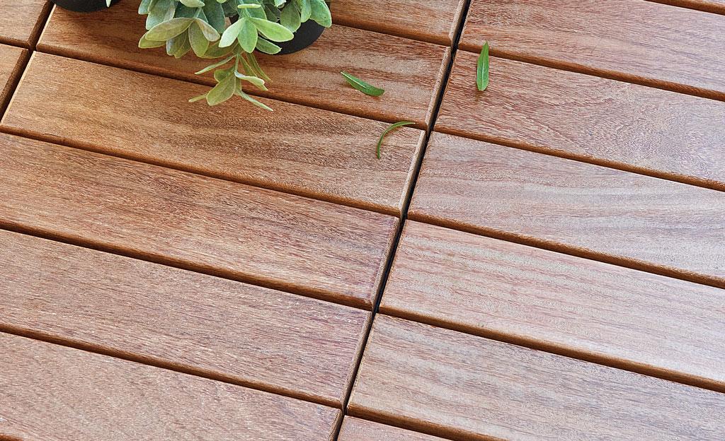 Holzfliesen Balkon Selbstde