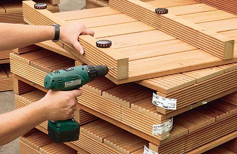 Bauanleitung: Holzterrasse montieren – Schritt 1 von 18