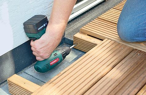 Bauanleitung: Holzterrasse montieren – Schritt 9 von 18