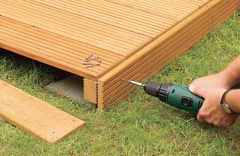 Bauanleitung: Holzterrasse montieren – Schritt 15 von 18