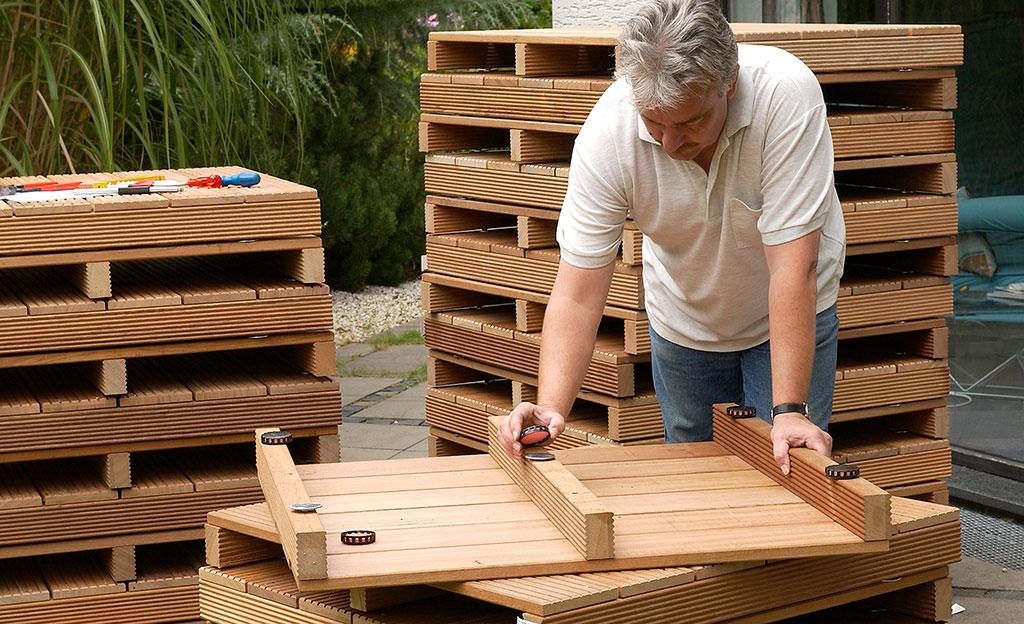 Holzrost Terrasse