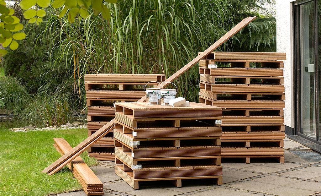 Holzrost Terrasse Holzterrasse