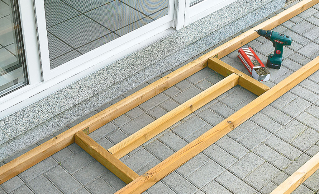 Holzterrasse Unterkonstruktion Selbst De