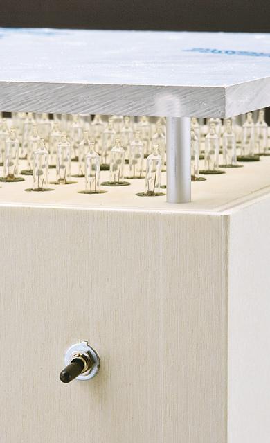 Detail: Licht-Stele