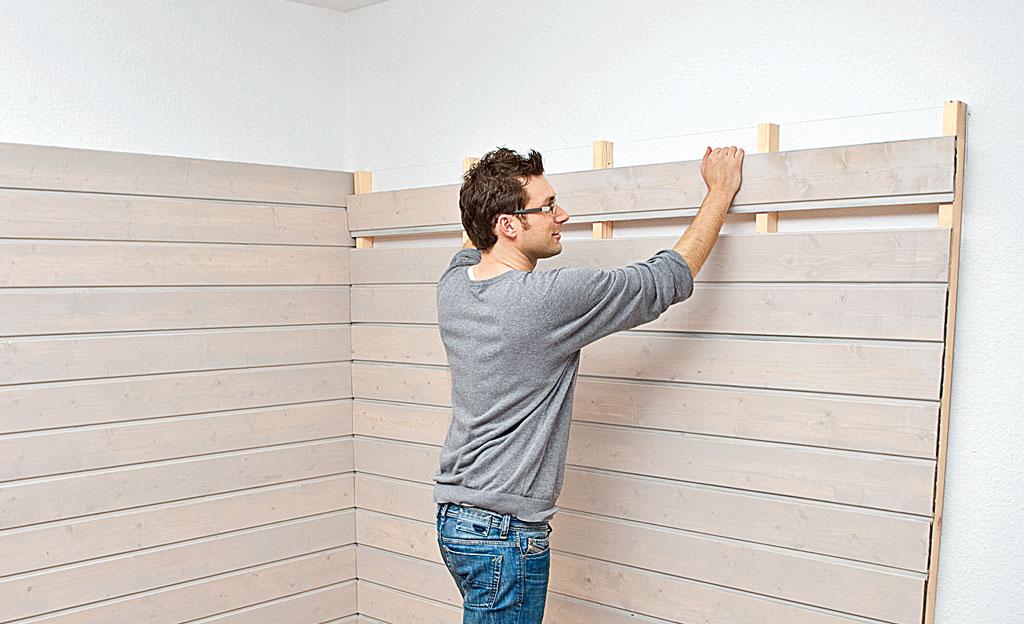 Wandverkleidung aus Holz  Wandverkleidung  selbst.de