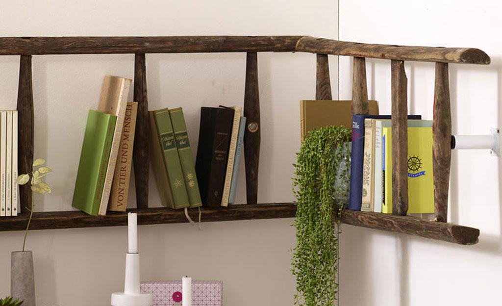 Bücherregal wand selber bauen  Regal mit Leiter | selbst.de