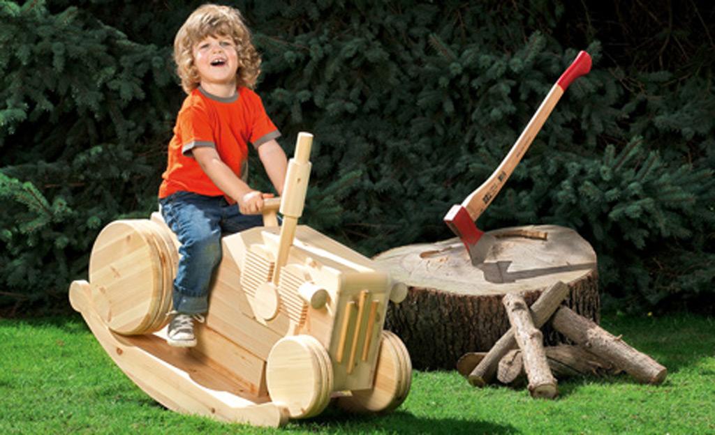 schaukelpferd: trecker bauen | spielzeug & spielgeräte | selbst.de,