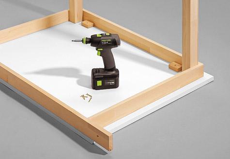 Bauanleitung Schreibtisch bauen – Schritt 7 von 7