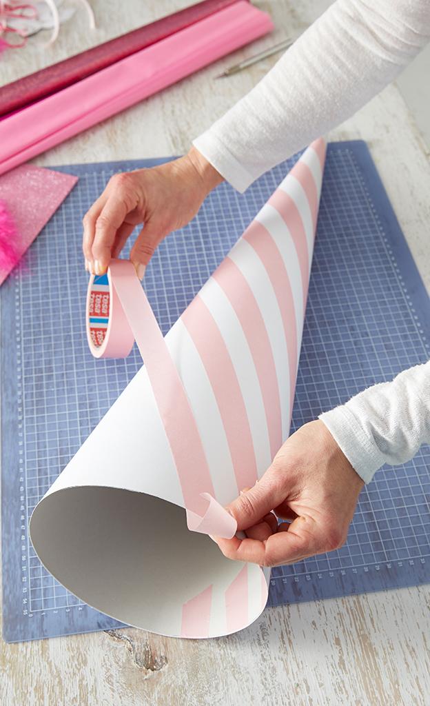 Schultüte für Mädchen basteln
