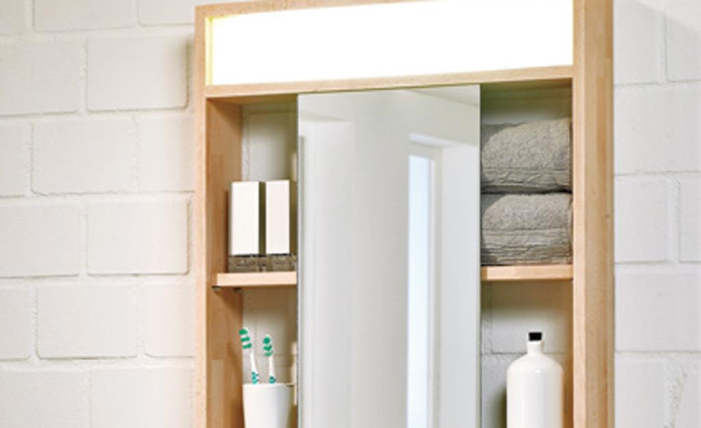 spiegelschrank selber bauen. Black Bedroom Furniture Sets. Home Design Ideas