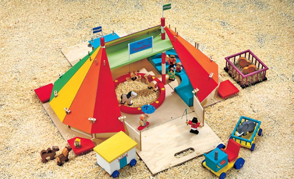 Spiel zirkus for Outdoor spule selber bauen