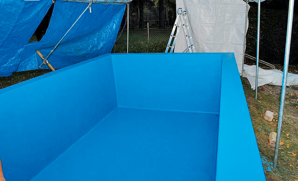 Pool reparieren