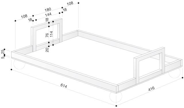 Material & Zeichnung Fußball-Tablett