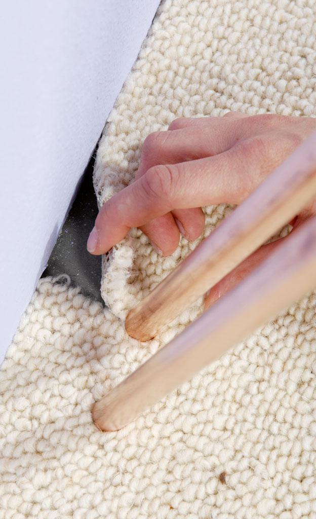Teppich auf Rohrmaße zuschneiden