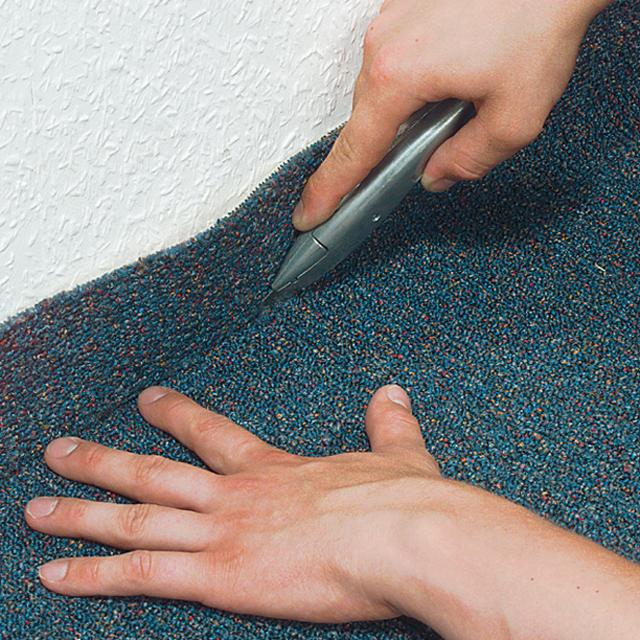 Teppichboden zuschneiden