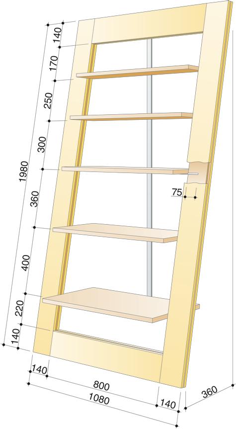 bauanleitung anlehnregal selber bauen holzarbeiten. Black Bedroom Furniture Sets. Home Design Ideas