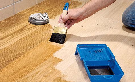 eichenboden im bad verlegen k che bad sanit r. Black Bedroom Furniture Sets. Home Design Ideas
