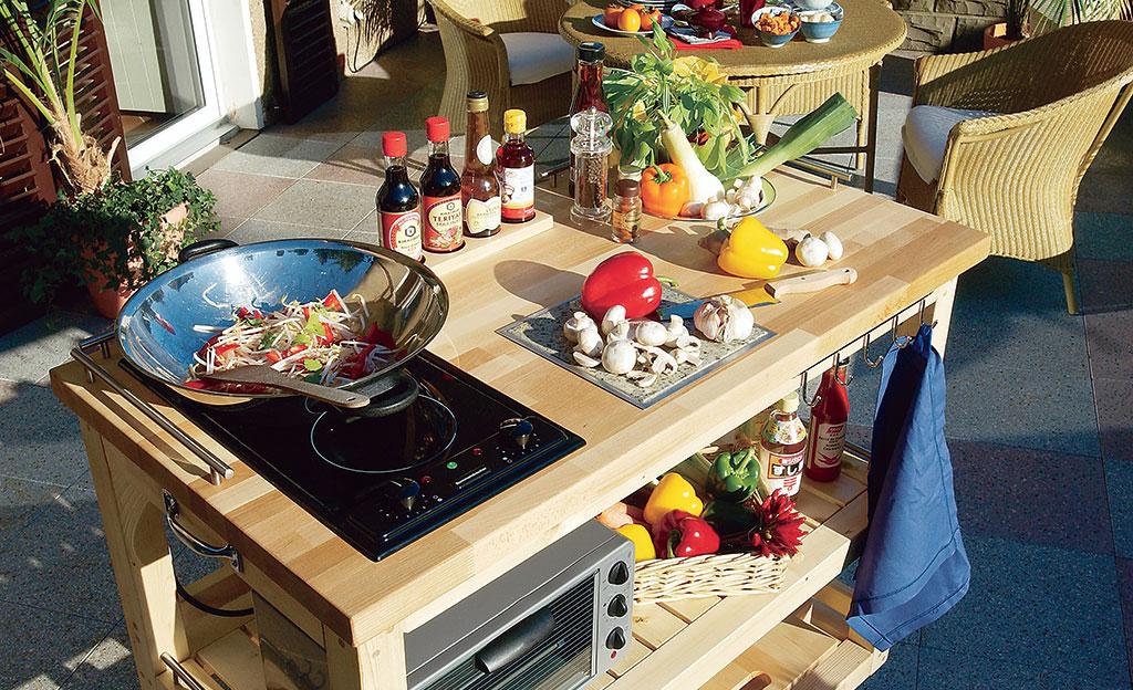 Außenküche Mit Backofen : Außenküche selbst.de