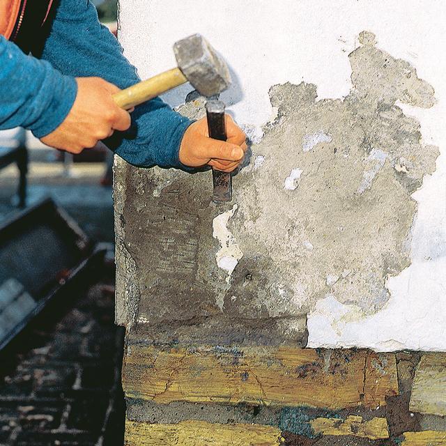 Fassadenputz - Salpeter wand verputzen ...