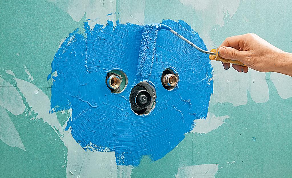 Badsanierung: Wand abdichten