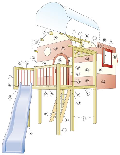 Zeichnung Kinderhaus bauen