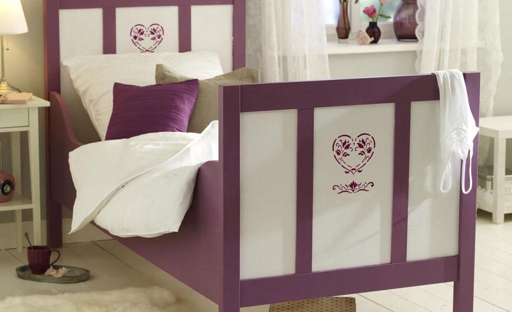 Bett dekorieren