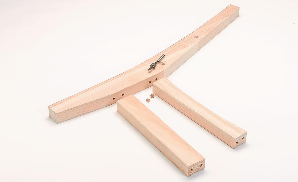 Bauplan: Holzbank