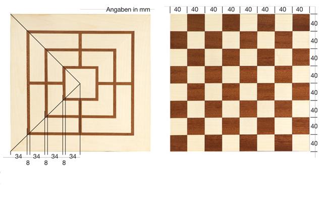 Schachbrett selber bauen holzspielzeug krippen bild for Schachbrett selber bauen