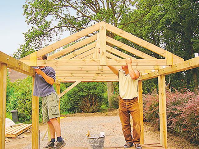 carport selber bauen selbstde