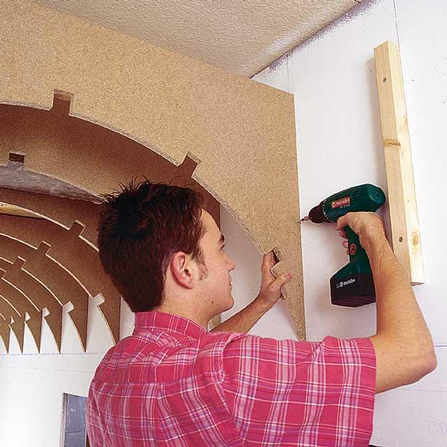 Decke Verkleiden: Flur Mit Tonnengewölbe