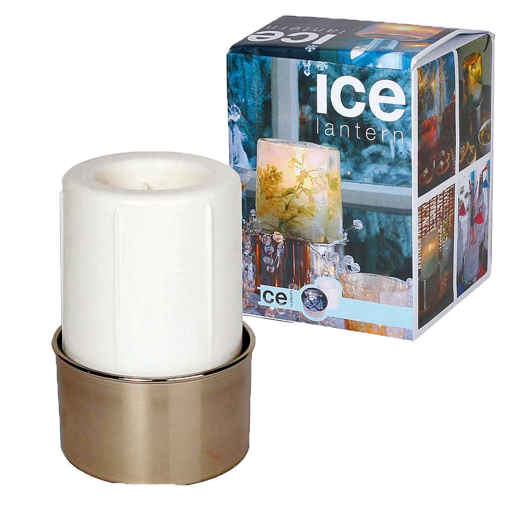 Winter-Deko: Eis-Windlicht