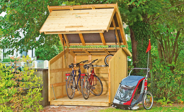fahrradbox. Black Bedroom Furniture Sets. Home Design Ideas