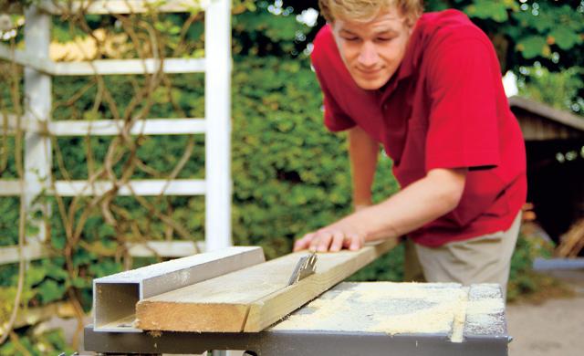 Dachsparren sägen