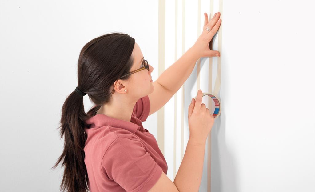 Streichen: Farbe In Streifen   Maltechniken   Selbst.de Farbe Streifen Streichen