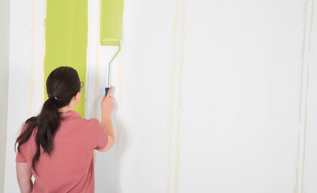 Streichen farbe in streifen maltechniken selbst
