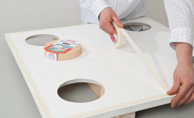 Tischplatte grundieren