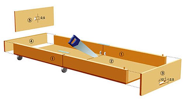 g stebett selber bauen holzarbeiten m bel. Black Bedroom Furniture Sets. Home Design Ideas