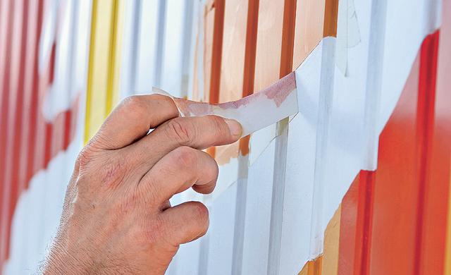 Malerkrepp vorsichtig entfernen