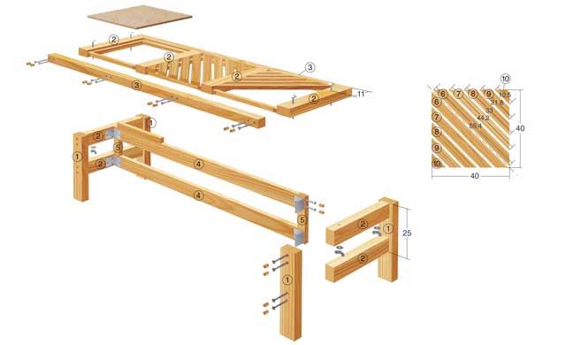 GartenmObel Holz Zum Klappen ~ gartenmöbel set zum klappen die zeichnung enthält alle zum nachbau