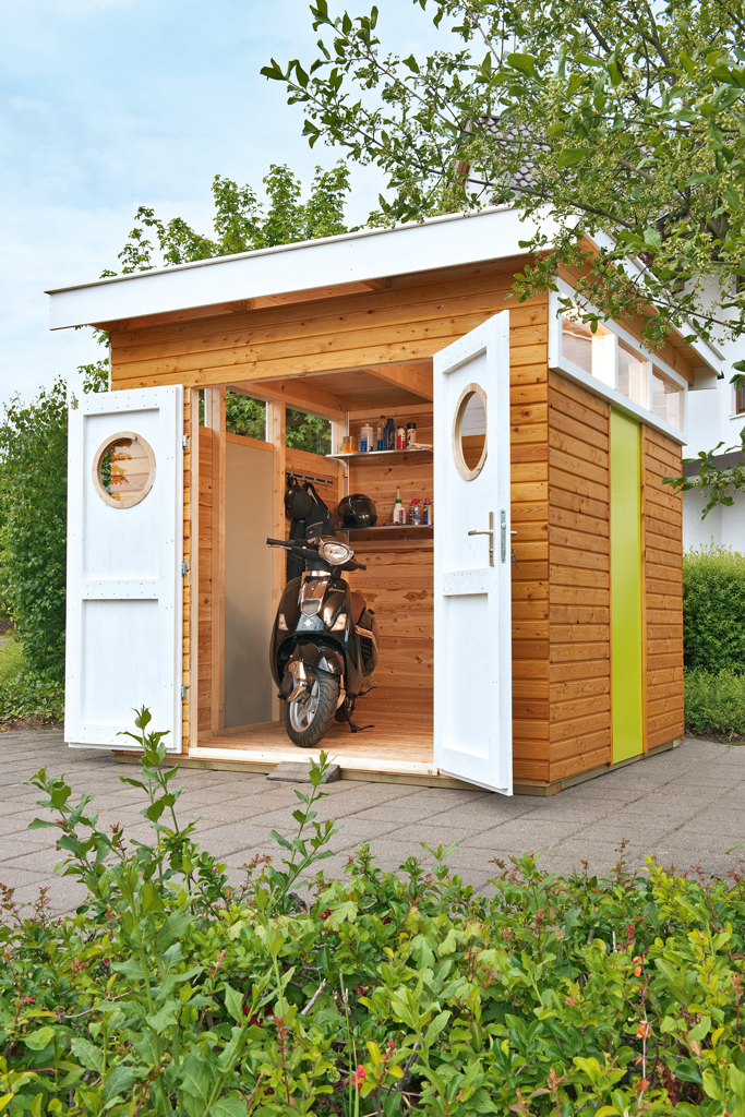 fahrradschuppen gartenhaus carport. Black Bedroom Furniture Sets. Home Design Ideas