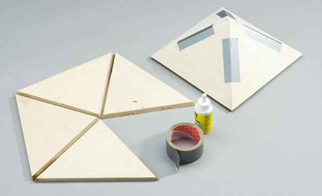Dachpyramide verleimen