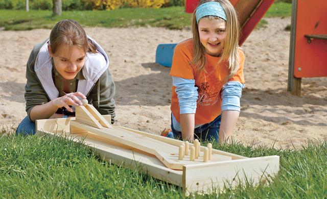 Kegelbahn selber bauen for Outdoor spule selber bauen