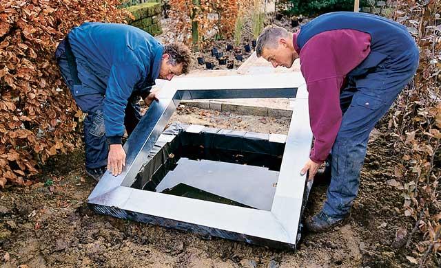 Eckige wasserbecken for Gartenteich modern eckig