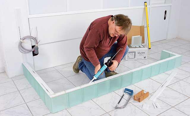 glasbausteine mauern bauen renovieren bild 15. Black Bedroom Furniture Sets. Home Design Ideas