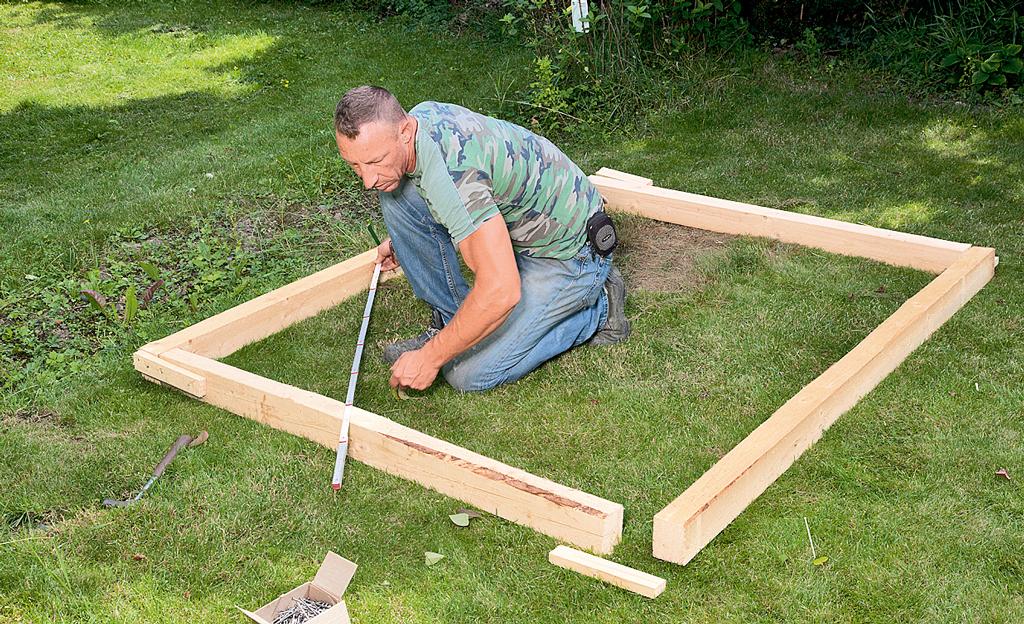 Grillstation bauen