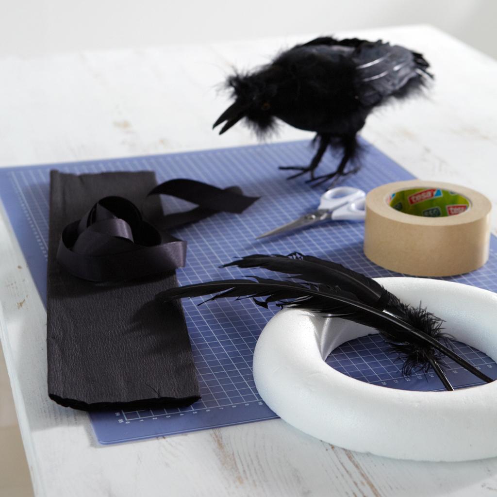 halloween t rkranz basteln basteln. Black Bedroom Furniture Sets. Home Design Ideas