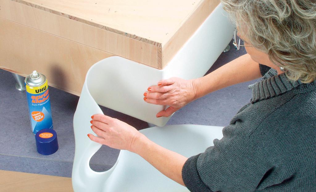 hocker aufpolstern einrichten mobiliar. Black Bedroom Furniture Sets. Home Design Ideas