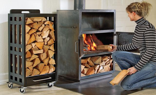 mobiles Brennholzlager