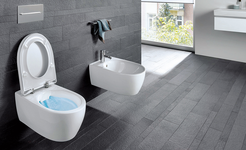 Sanitär: WC-Becken ohne Rand