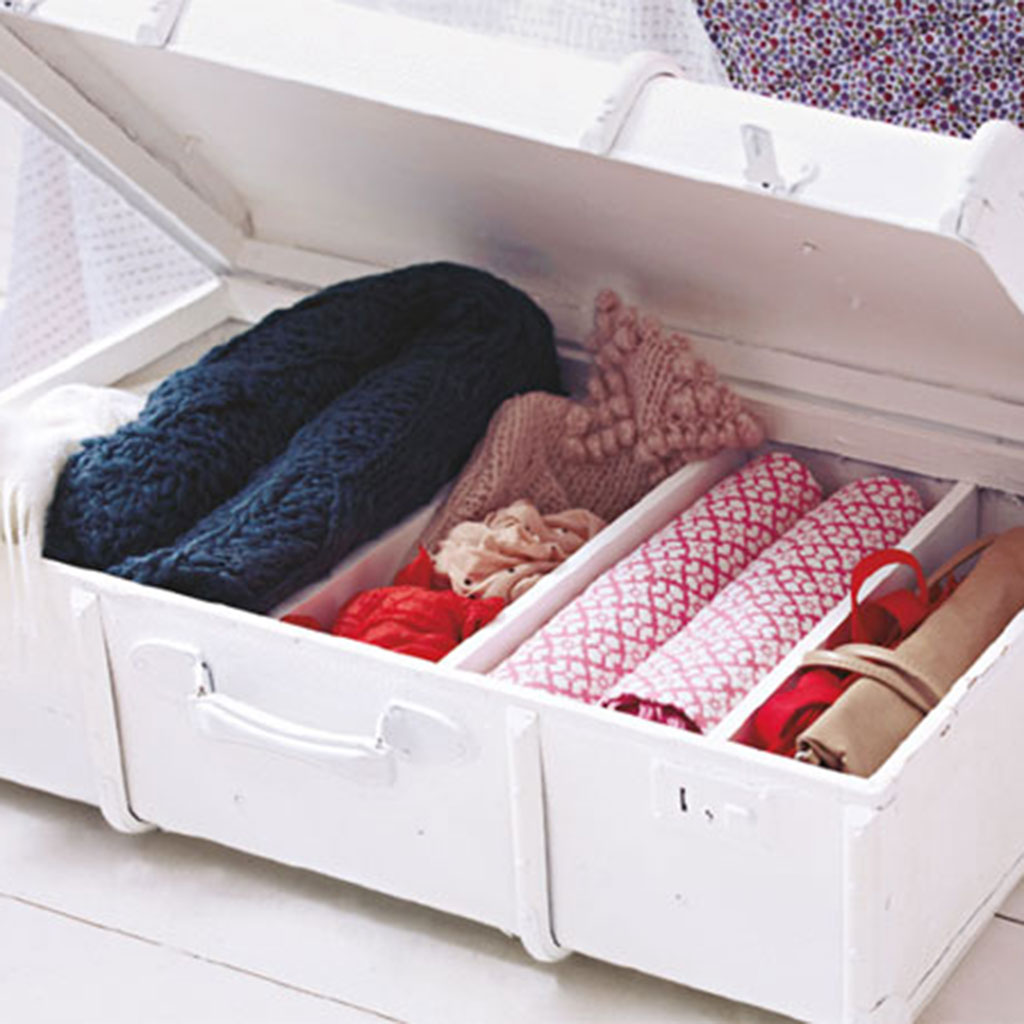 Upcycling: Koffer als Sitzbank